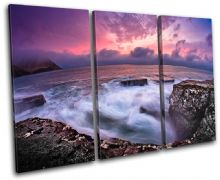 Rocky shore Sunset Seascape - 13-0399(00B)-TR32-LO
